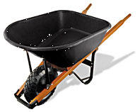 Wheelbarrow 6-Cf Poly Tray