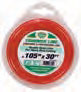"Trimmer Line .105""x30' Red"
