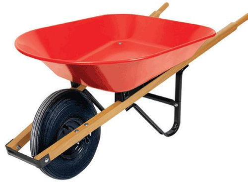 Wheelbarrow 6cu Ft Wood Handle