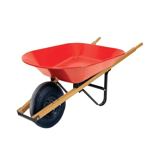 Wheelbarrow 5cf Steel Wood Hdl