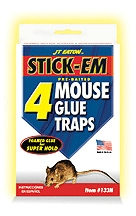 Mouse Glue Traps 4 Pk Stickem