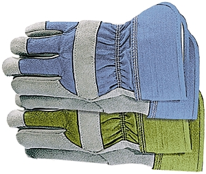 Gloves Ladies Leather-Palm Med
