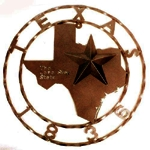 "Star 29"" Texas Map 1836 Rustic"