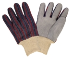 Gloves Knitwrist Leather Palm