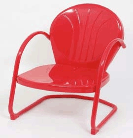 Chair Metal Tulip Red