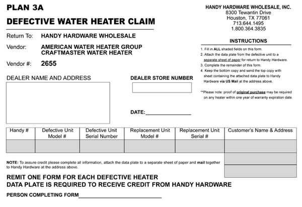 Forms Plan 3a Wtrheater Claim