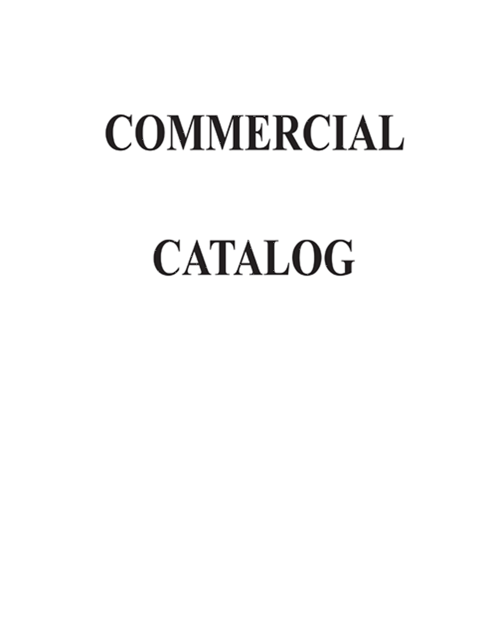 Store Supplies: Commercial Catalogs